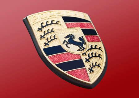 Porsche car logo Editorial