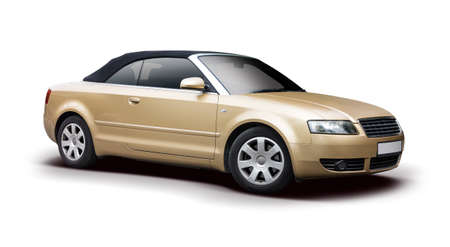 Sport cabrio car isolated on white