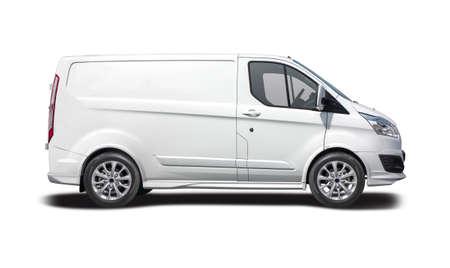 White van side view ready for branding Stock Photo