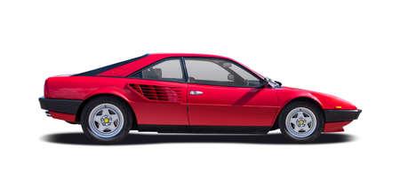 Classic Italian sport premium car isolated on white