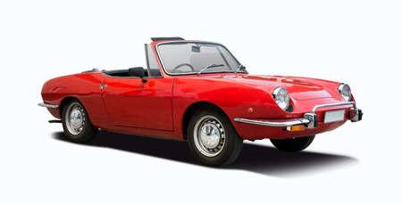 Klassisches italienisches Sport-Cabrio-Auto isoliert auf weiß Standard-Bild