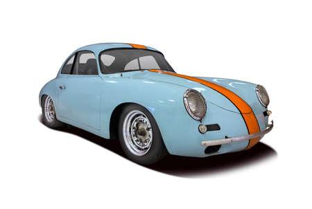 Classic German premium sport car isolated on white