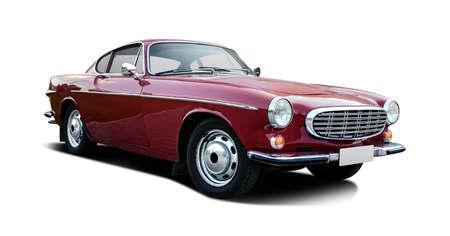 Klassisches schwedisches Sportcoupé-Auto isoliert auf weiß Standard-Bild