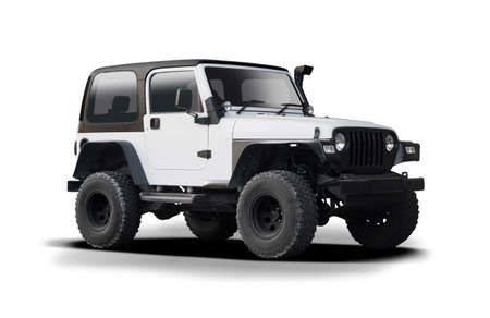 American off road vehicle isolated on white
