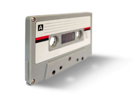 Audio cassette isolated on white background