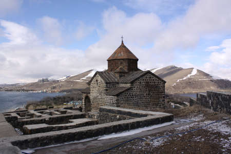 veiw: Armenia  Sevan Lake veiw  Church
