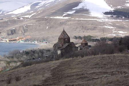veiw: Armenia  Sevan Lake veiw Stock Photo