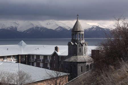theological: Armenia  sevan lake  Sevan Lake veiw Stock Photo