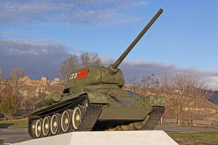 personel: Arminia  Yerevan  Battle tank T-34 in park