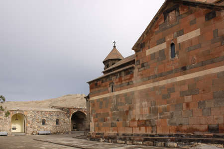 Ancient Armenian Khor Virap monastery near Ararat mount photo