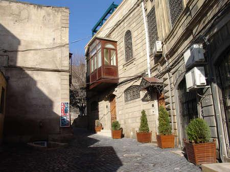 baku: Azerbaijan  Baku, City streets view