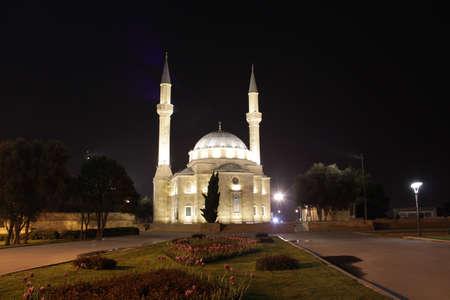 baku: Azerbaijan  Baku, City streets veiw at night