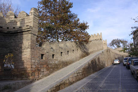baku: Azerbaijan  Baku, City streets veiw