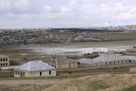 veiw: Azerbaijan Country veiw near Baku  Solt lake