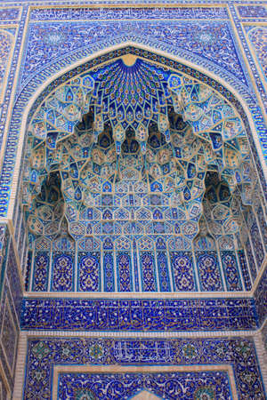 mausoleum: Uzbekistan  Samarkand  Gur-e Amir mausoleum decor Stock Photo
