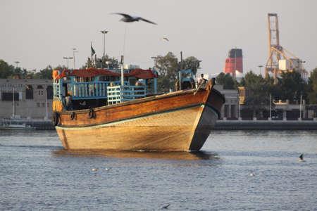 veiw: United Arab Emirates   Dubai City veiw Ship in creek