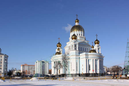 theodor: Russia  Mordovia republic  Cathedral  in Saransk during the winter