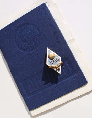 univercity: Russian Insignia of Moscow state institute of international relations and Diploma