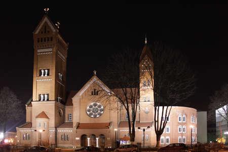 minsk: Belarus Minsk Red church Church of Saints Simon and Helena