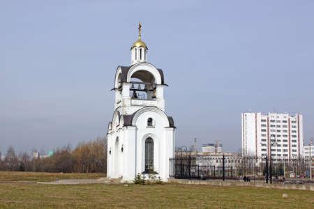 church bell: Belarus Minsk Church. Bell tower