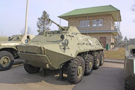 personel: Battle tanks in museum Stalin line near Minsk  Belarus