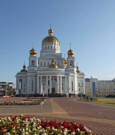 admiral: View at the cathedral of St Warrior Admiral Feodor Ushakov in Saransk, Mordovia. Russian Federation