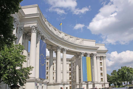 classicism: Ukraine. Kiev. Ministry of Foreign Affairs at St. Michaels Square
