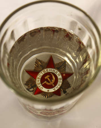Order of the Great Patriotic War in the glass. The custom of wash Order and rip. Editorial