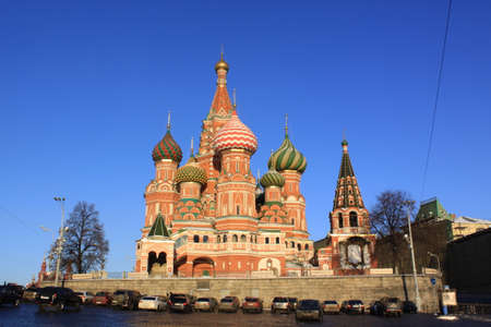 Russia. Moscow. Saint Basils Cathedral Editorial