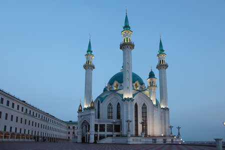 Russia. Kazan. Cathedral mosque at night