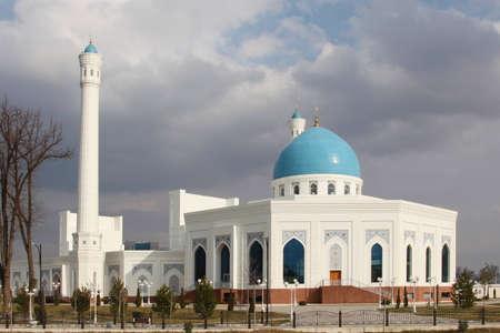 View at White mosque in Tashkent, Uzbekistan