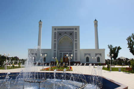 Uzbekistan Tashkent: White mosque