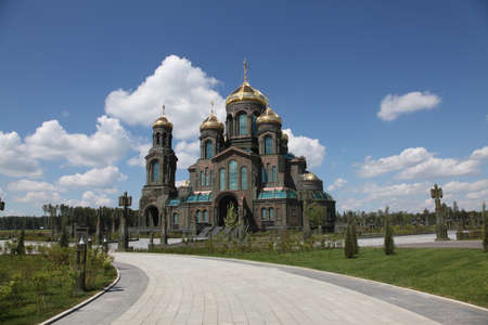 Main temple of the Russian Armed Forces in the Park Patriot in Kubinka, Moscow Region, Russia Editöryel