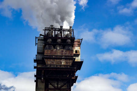 eyesore: building for industrial use, industrial air emissions