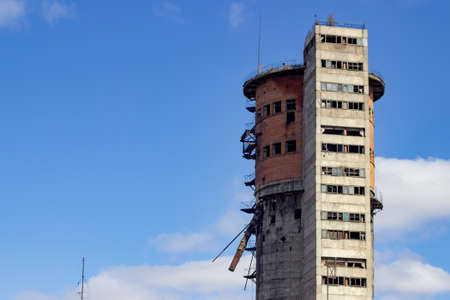 eyesore: building for industrial use, the tower is of red brick