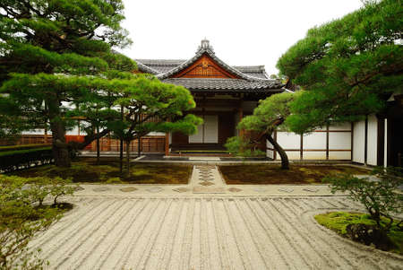 Oriental Style Traditional Japanese Garden Stock Photo