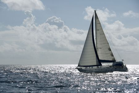 A sailboat in the Caribbean. Stock Photo - 692198
