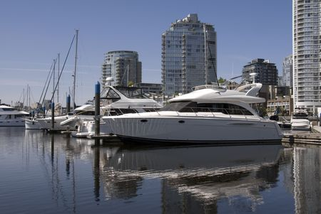 A marina in Yaletown, Vancouver, BC, Canada. Stock Photo - 957004