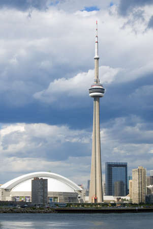 Downtown Toronto just before a summer shower.