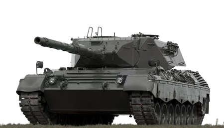 A European-built main battle tank on a white background.