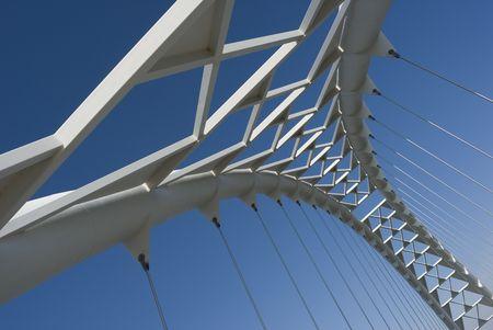 The arch of the Humber River suspension bridge in Toronto, Ontario, Canada. Standard-Bild