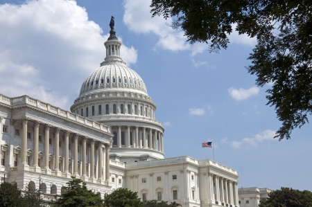 The Capitol, located in Washington, DC, is the building in which the United States Congress meets. It is at the east end of the National Mall, a site described by the engineer who chose it as