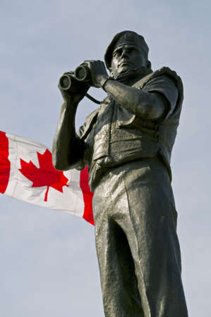 A detail of the Canadian National Peacekeeping Monument in Ottawa, Ontario. It commemorates the Canadian contribution to United Nations missions since 1948.
