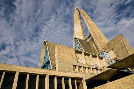 The towering roof of the Higuey Basilica (Basilica de Nuestra Senora de la Altagracia) in the Dominican Republic. Imagens