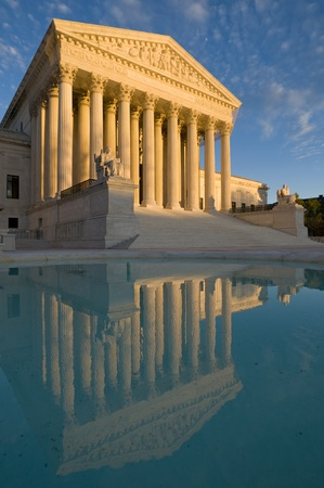 The front of the US Supreme Court in Washington, DC
