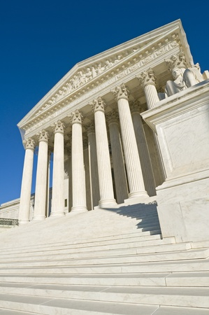 The front of the US Supreme Court in Washington, DC. Stock Photo - 8600178