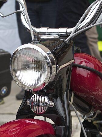 burnish: Headlight historic moped