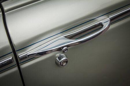 Antique car, chrome door handle