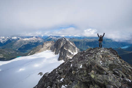 Summit of Mt. Matier in the Coastal mountains of BC Stock Photo