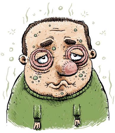 Sad and Sick Man photo